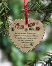 U Held My Hand For Many Year Daughter To Mom Heart ornament - single (porcelain) aos-heart-ornament-single-porcelain-lifestyles-07