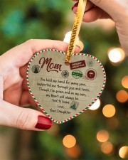 U Held My Hand For Many Year Daughter To Mom Heart ornament - single (porcelain) aos-heart-ornament-single-porcelain-lifestyles-08