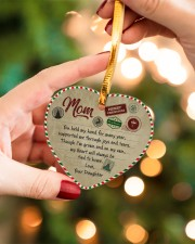 U Held My Hand For Many Year Daughter To Mom Heart ornament - single (porcelain) aos-heart-ornament-single-porcelain-lifestyles-09
