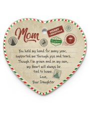 U Held My Hand For Many Year Daughter To Mom Heart ornament - single (porcelain) front