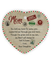 U Held My Hand For Many Year Daughter To Mom Heart ornament - single (wood) thumbnail