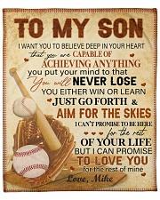 "Personalized I Want U Believe Baseball Dad To Son Fleece Blanket - 50"" x 60"" front"