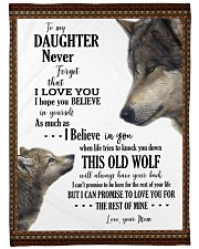 Daughter This Old Wolf Will Always Have Your Back Fleece Blanket tile