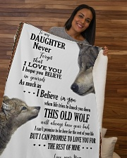 """Daughter This Old Wolf Will Always Have Your Back Sherpa Fleece Blanket - 50"""" x 60"""" aos-sherpa-fleece-blanket-50x60-lifestyle-front-09b"""