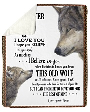 """Daughter This Old Wolf Will Always Have Your Back Sherpa Fleece Blanket - 50"""" x 60"""" front"""