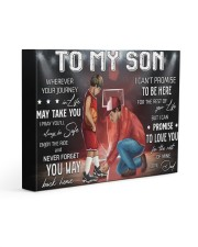 Wherever Your Journey In Life Basketball DadTo Son Gallery Wrapped Canvas Prints tile