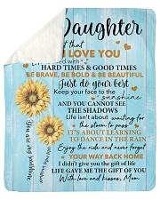 "Mom To Daughter Sunflower Never 4get I Love U  Sherpa Fleece Blanket - 50"" x 60"" thumbnail"