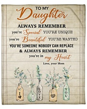 """You Are Someone Nobody Can Replace Mom To Daughter Fleece Blanket - 50"""" x 60"""" front"""