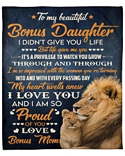 "I Did Not Give U Life Lion Mom To Bonus Daughter Fleece Blanket - 50"" x 60"" front"