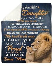 "I Did Not Give U Life Lion Mom To Bonus Daughter Sherpa Fleece Blanket - 50"" x 60"" thumbnail"
