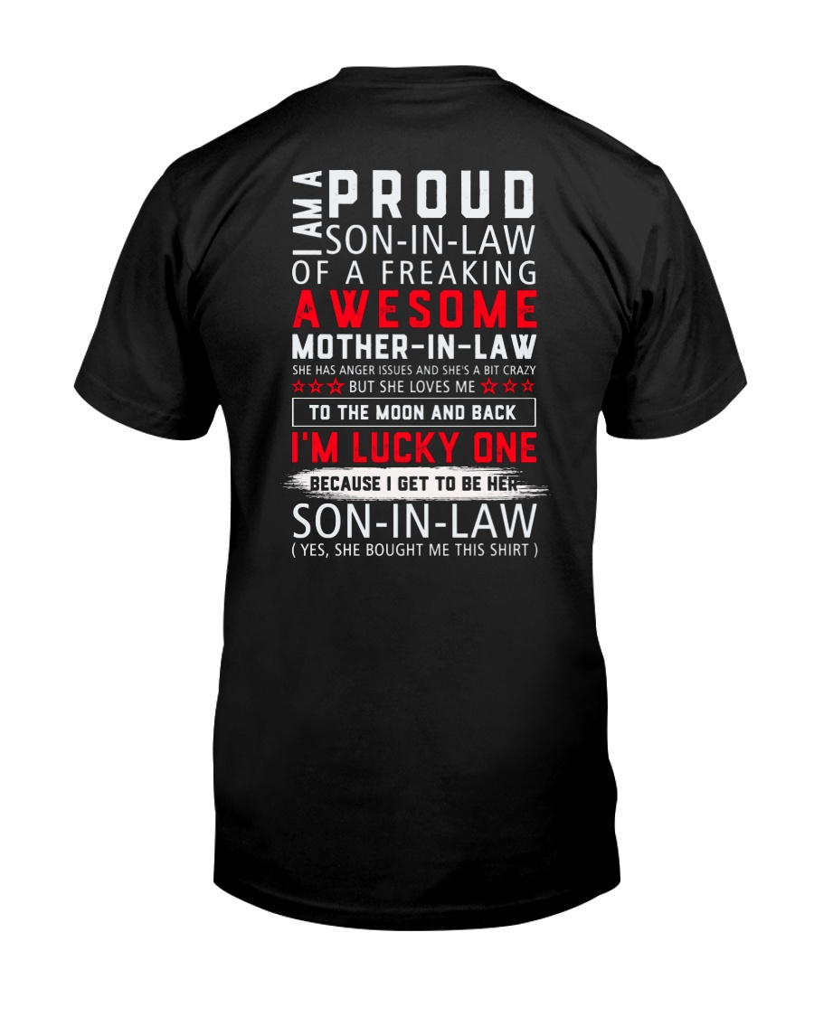 Proud Son-In-Law Of AFreakin Awesome Mother-In-Law Classic T-Shirt