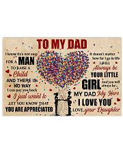 Dad Heart Tree You'll Always Be My Dad My Hero 17x11 Poster front