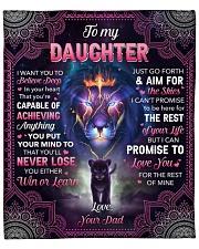 "I Want U To Belive Deep Lion Dad To Daughter Fleece Blanket - 50"" x 60"" front"