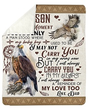 """I Close My Eyes For But A Moment Eagle Dad To Son Sherpa Fleece Blanket - 50"""" x 60"""" thumbnail"""