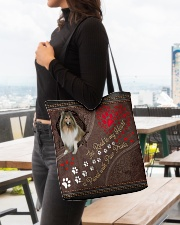 Shetland-Sheepdog-dog-the-road-to-my-heart All-over Tote aos-all-over-tote-lifestyle-front-04