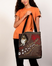 Shetland-Sheepdog-dog-the-road-to-my-heart All-over Tote aos-all-over-tote-lifestyle-front-06