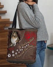 Shetland-Sheepdog-dog-the-road-to-my-heart All-over Tote aos-all-over-tote-lifestyle-front-09