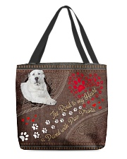Central-Asian-Shepherd-dog-the-road-to-my-heart All-over Tote back