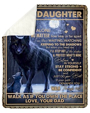 """Dad To Daughter Wolf Never Feel That U Are Alone Sherpa Fleece Blanket - 50"""" x 60"""" thumbnail"""