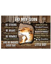 Be Strong When U Are Weak Mom To Son Horizontal Poster tile