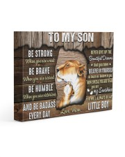 Be Strong When U Are Weak Mom To Son 14x11 Gallery Wrapped Canvas Prints front