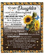 """I Hope U Believe In Yourself Mom To Daughter Fleece Blanket - 50"""" x 60"""" front"""