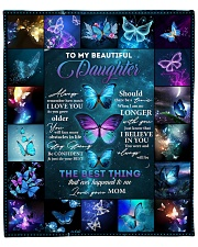 """Buffterfly Remember  I Love U Mom To Daughter Fleece Blanket - 50"""" x 60"""" front"""