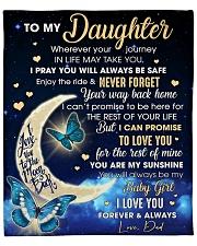 "Daughter Half Moon Promise To Love U For The Rest Fleece Blanket - 50"" x 60"" front"