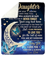 """Daughter Half Moon Promise To Love U For The Rest Sherpa Fleece Blanket - 50"""" x 60"""" thumbnail"""
