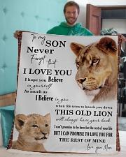 "To My Son I Love You Sherpa Fleece Blanket - 50"" x 60"" aos-sherpa-fleece-blanket-50x60-lifestyle-front-05"