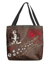 Havanese-dog-the-road-to-my-heart All-over Tote back