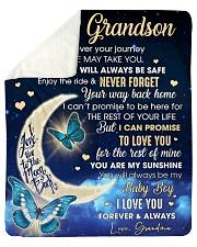 "Grandson Half Moon Promise To Love U For The Rest Sherpa Fleece Blanket - 50"" x 60"" thumbnail"