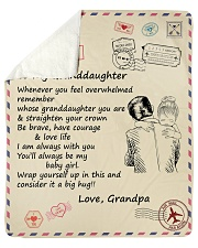 "Granddaughter Be Brave Have Courage And Love Life  Sherpa Fleece Blanket - 50"" x 60"" thumbnail"