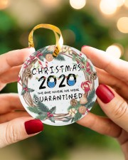 Christmas 2020 The One Where We Were Quarantined Circle ornament - single (porcelain) aos-circle-ornament-single-porcelain-lifestyles-08