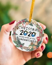 Christmas 2020 The One Where We Were Quarantined Circle ornament - single (porcelain) aos-circle-ornament-single-porcelain-lifestyles-09