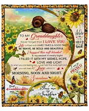 """Never Forget That I Love You To Granddaughter Fleece Blanket - 50"""" x 60"""" front"""
