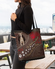 Greyhound-dog-the-road-to-my-heart All-over Tote aos-all-over-tote-lifestyle-front-04