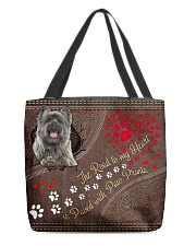 Cairn-Terrier-dog-the-road-to-my-heart All-over Tote back