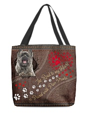 Cairn-Terrier-dog-the-road-to-my-heart All-over Tote front