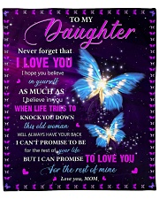 """Never Forget That I Love You - Mom To Daughter Fleece Blanket - 50"""" x 60"""" front"""