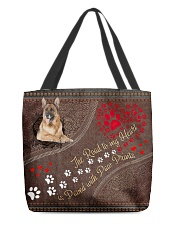 The Road To My Heart Is Paved Paw German Shepherd All-over Tote back