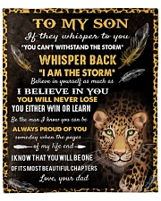 """Dad To Son I am the storm - Cheetah Fleece Blanket - 50"""" x 60"""" front"""