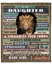 """Never Feel U Are Alone Panther Mom To Daughter Fleece Blanket - 50"""" x 60"""" front"""