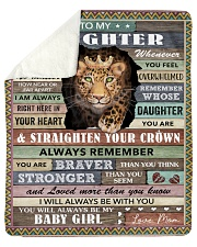 """Never Feel U Are Alone Panther Mom To Daughter Sherpa Fleece Blanket - 50"""" x 60"""" thumbnail"""
