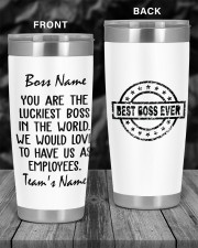 You are the luckiest boss in the world Custom 20oz Tumbler aos-20oz-tumbler-lifestyle-front-55
