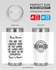 You are the luckiest boss in the world Custom 20oz Tumbler aos-20oz-tumbler-lifestyle-front-60