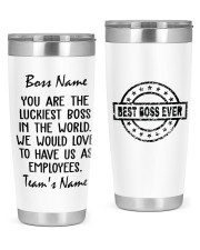 You are the luckiest boss in the world Custom 20oz Tumbler front