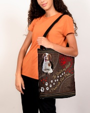Brittany-dog-the-road-to-my-heart All-over Tote aos-all-over-tote-lifestyle-front-07