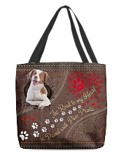 Brittany-dog-the-road-to-my-heart All-over Tote front