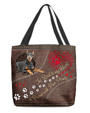 Beauceron-dog-the-road-to-my-heart All-over Tote back